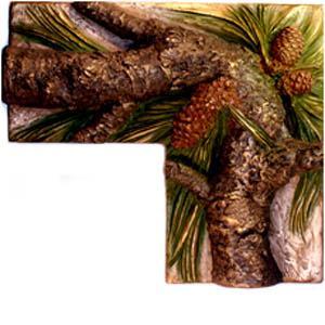 Gnarly Pine Corner Piece 4 Inch x 8 Inch by 4 Inch x 8 Inch