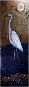 Heron Night Scene 12 Inch x 36 Inch Add matching side pieces for up to 36 Inch x 36 Inch